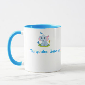 cute Elephant Turquoise Serenity mug