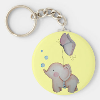 Cute Elephant with butterfly Key Chain