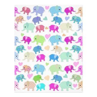 Cute elephants custom letterhead