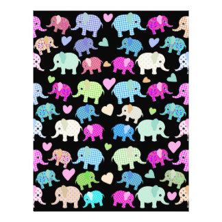 Cute elephants customized letterhead