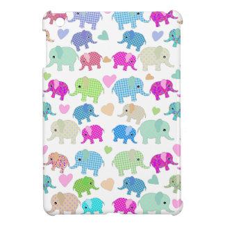 Cute elephants iPad mini case