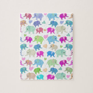 Cute elephants jigsaw puzzle