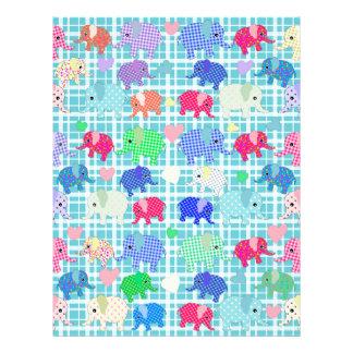 Cute elephants letterhead design