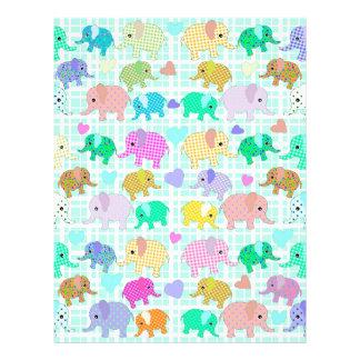 Cute elephants letterhead template