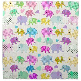 Cute elephants napkin