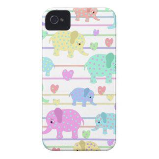 Cute elephants pattern iPhone 4 Case-Mate case