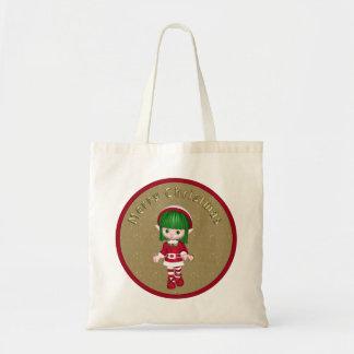 Cute Elf - Christmas Design Tote Bag