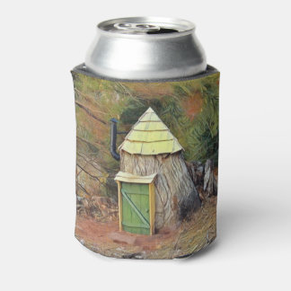Cute Elf House Can Cooler
