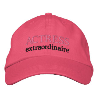 Cute Embroidered Actress Extraordinaire Hat