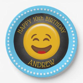 Cute Emoji Birthday Party Paper Plate