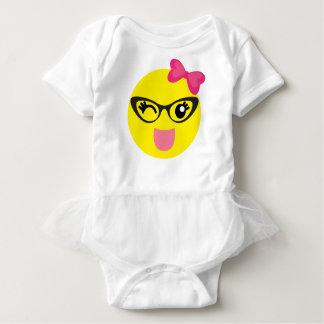 Cute Emoji Girl Baby Bodysuit