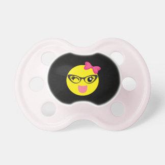 Cute Emoji Girl Pacifier