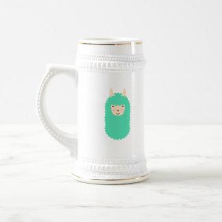 Cute Emoji Llama Beer Stein