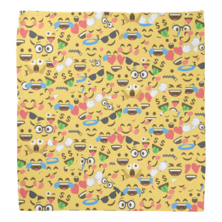 cute emoji love hears kiss smile laugh pattern bandana