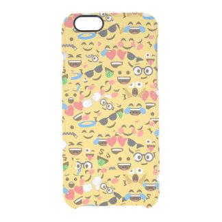 cute emoji love hears kiss smile laugh pattern clear iPhone 6/6S case