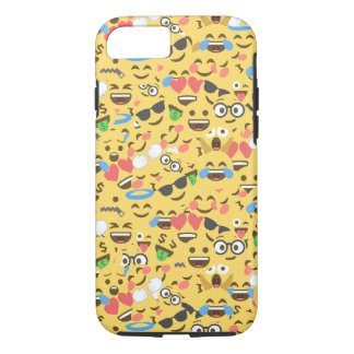 cute emoji love hears kiss smile laugh pattern iPhone 8/7 case