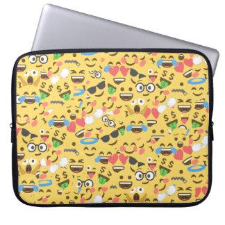 cute emoji love hears kiss smile laugh pattern laptop sleeve