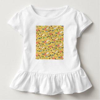 cute emoji love hears kiss smile laugh pattern toddler t-shirt