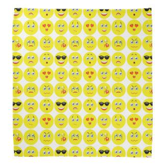 Cute Emoji Pattern Bandana
