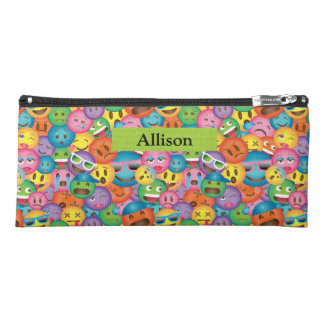 Cute Emoji Print Pencil Case