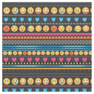 Custom emoji fabric for upholstery quilting and crafts for Emoji fabric