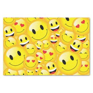 Cute Emoticon Happy Smiley Emoji Kids Party Paper