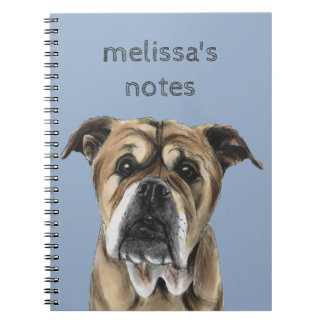 Cute English Bulldog Drawing Notebooks
