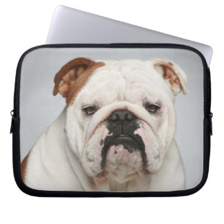 Cute English Bulldog Puppy Dog Laptop Sleeve Case