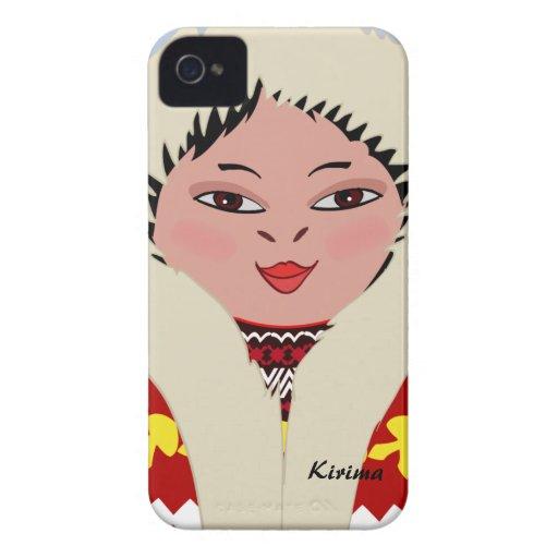 Cute Eskimo Cartoon Girl Blackberry Bold Case