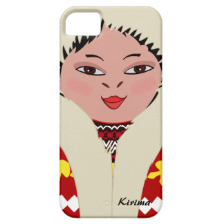 Cute Eskimo Cartoon Girl Dol iPhone 5 Case