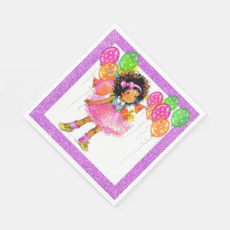 Cute Ethnic Girl Napkins