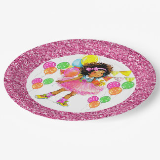 Cute Ethnic Girl  Party Goods Paper Plate