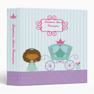 Cute ethnic royal princess carriage avery binder