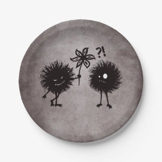 Cute Evil Bug Friends Gothic Paper Plate