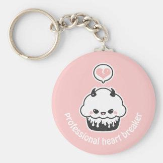 Cute Evil Cupcake Basic Round Button Keychain