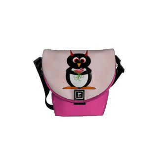 Cute Evil Penguin Rickshaw Messenger Bag