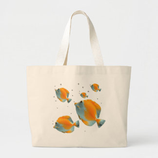 Cute exotic Vibrant Unique Yellow Butterfly Fish Jumbo Tote Bag