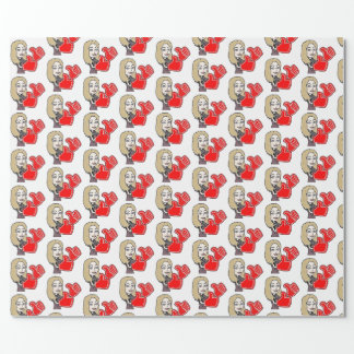 cute expressive emoji thumbs up wrapping paper