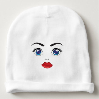 cute eyes and lips baby beanie