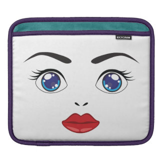 cute eyes and lips iPad sleeve