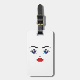 cute eyes and lips luggage tag