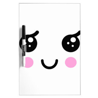 Cute Face Dry Erase Board