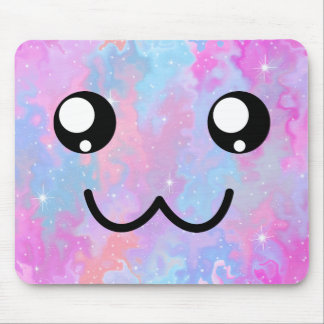 Cute Face Kawaii Pastel Magical Colorful Mouse Pad