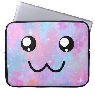 Cute Face Kawaii Pastel Magical Colorfull Laptop Sleeve