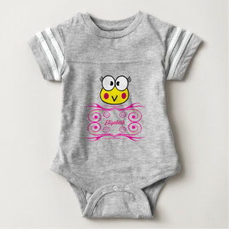 cute face of toad girl baby bodysuit