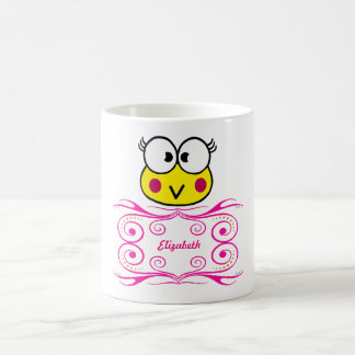 cute face of toad girl coffee mug