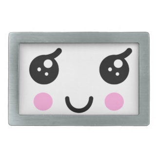 Cute Face Rectangular Belt Buckles