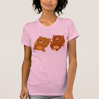 Cute Facetious Cartoon Bears Women T-Shirt