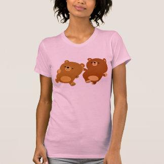 Cute Facetious Cartoon Bears Women T-Shirt