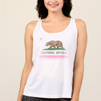 Cute Faded Retro California Flag Tank Top